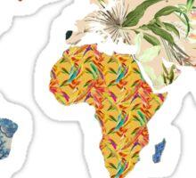 Floral Patchwork World Map Sticker