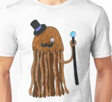 Mr Stinger the Gentleman Jellyfish in orange Unisex T-Shirt