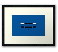 B5 simple front end design Framed Print