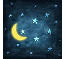 moon and stars Photographic Print