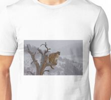 Cougar overlooking domain Unisex T-Shirt
