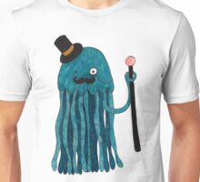 Mr Stinger the Gentleman Jellyfish in blue Unisex T-Shirt