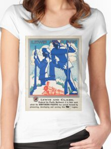 Vintage poster - Pacific northwest Women's Fitted Scoop T-Shirt