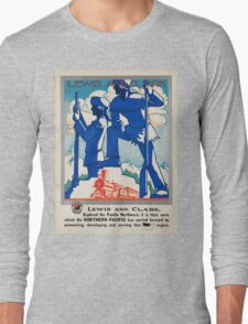 Vintage poster - Pacific northwest Long Sleeve T-Shirt