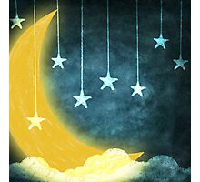 moon and stars Photographic Print