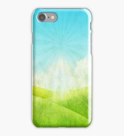 grassland and blue sky iPhone Case/Skin