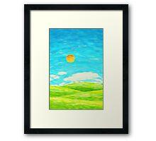 spring and summer Framed Print