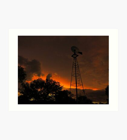 Dusk Down In The Valley Art Print