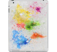 world map painting iPad Case/Skin
