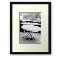 1987 - tuscany in winter Framed Print