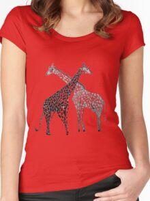 Giraffe Hugs Women's Fitted Scoop T-Shirt