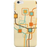 tree pattern and weaving line iPhone Case/Skin