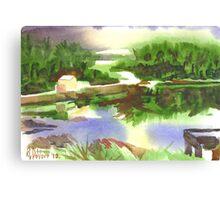 Bright Evening Dusk at Shepherd Mtn. Lake Canvas Print