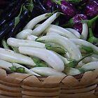 Eggplants on Display by Betty Mackey