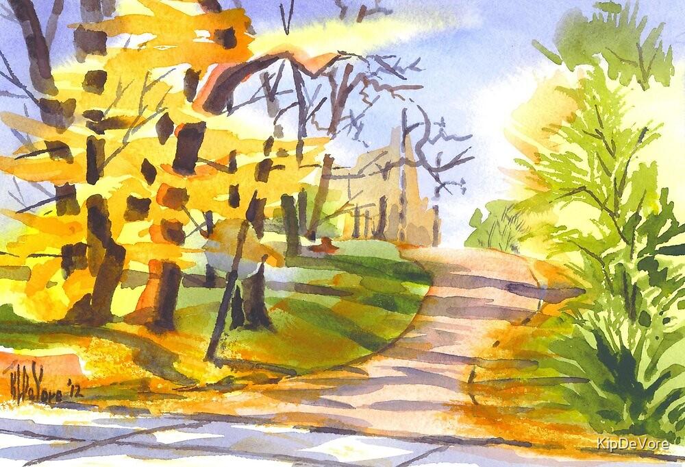 Autumn Lane by KipDeVore
