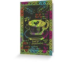 Hand drawn coffee sketch. Greeting Card