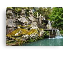 Villa Lante Fountain Canvas Print
