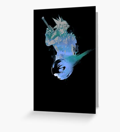 Cloud Strife Meteor (Black) Greeting Card