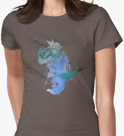 Cloud Strife Meteor (Black) Womens Fitted T-Shirt