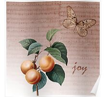 Inspired Joy Apricots Poster