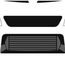Evo 5 simple front end design Sticker