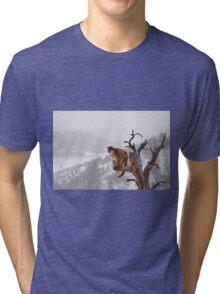 Cougar high in tree Tri-blend T-Shirt