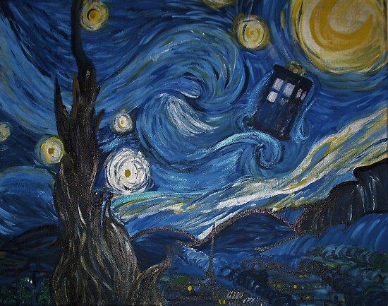 Van Gogh Starry Night Tardis Van Gogh Tardis