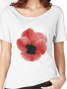 Poppy Print Women's Relaxed Fit T-Shirt