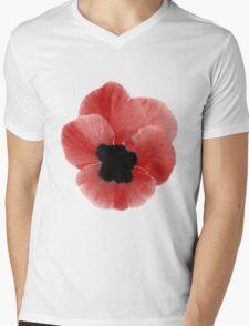 Poppy Print Mens V-Neck T-Shirt