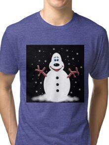 Snoooowman Tri-blend T-Shirt