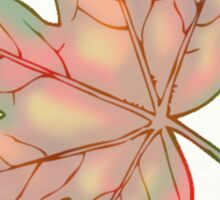 Autumn Leaves Print Sticker