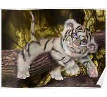 Tiger Pause, Tiger Cub by Alma Lee pop surrealism Poster