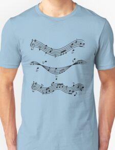 Music staff Unisex T-Shirt