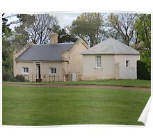 Woolmers Bakehouse Cottages in Tasmania - A World Heritage Listed Site Poster