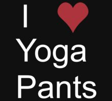 i <3 yoga pants white by NoahandSons