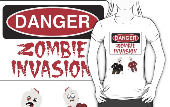 DANGER ZOMBIE INVASION by Customize My Minifig by ChilleeW