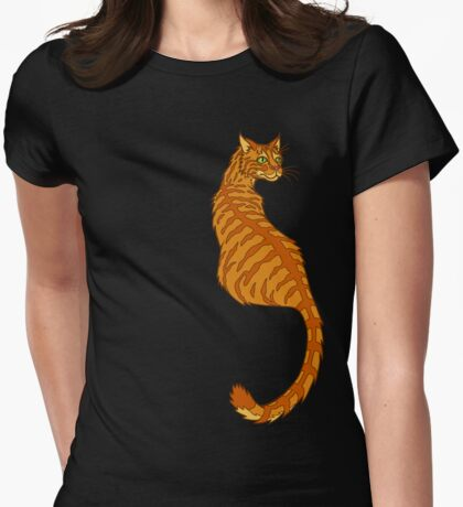Orange Tabby Tiger Womens Fitted T-Shirt