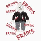 A LOT OF BRAINS - ZOMBIE MINIFIG, by Customize My Minifig by ChilleeW