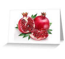 Yummy Pomegranates Greeting Card