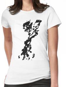 Spilt ink Womens Fitted T-Shirt