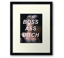 marie antoinette- boss ass bitch Framed Print