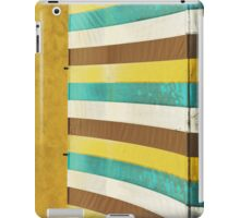 colorful grunge canvas on yellow wall iPad Case/Skin