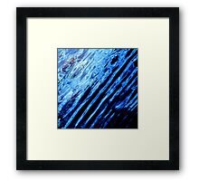 Blue Ripples Framed Print