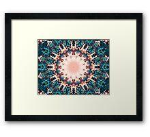 Abstract Fractal Sun Framed Print