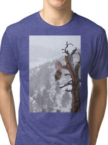 Cougar leaping off tree Tri-blend T-Shirt