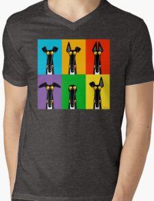 Greyhound Semaphore Mens V-Neck T-Shirt