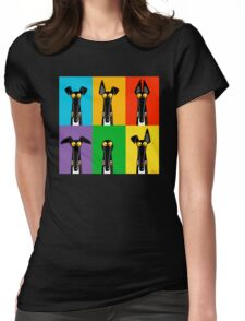 Greyhound Semaphore Womens Fitted T-Shirt
