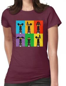 Greyhound Semaphore Womens Fitted T-Shirt