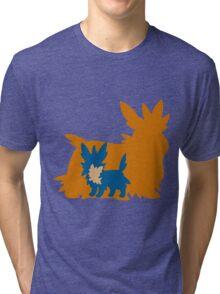 PKMN Silhouette - Lillipup Family Tri-blend T-Shirt