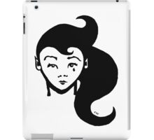 Lady Sorrow : T-shirt illustration / design - inspired by stencil / street art. iPad Case/Skin